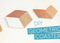 Diy Geometric Hexagon Cork Coasters Hack
