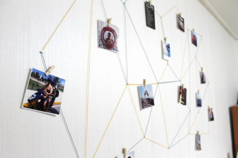 Diy Geometric Wall Display Lauren Likes Blog