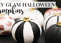 Diy Glam Halloween Pumpkin Decor Designs