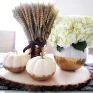 Diy Gold Dipped Pumpkin Vase Homey