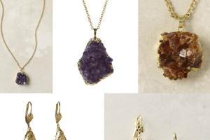 Diy Gold Dipped Raw Gem Jewelry Jamie Hannigan