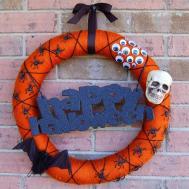 Diy Halloween Wreath She Crafty