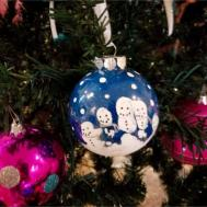 Diy Hand Print Christmas Ornaments Tried