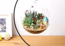 Diy Hanging Crystal Flower Vase Planter Terrarium