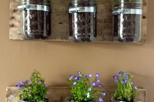 Diy Hanging Wall Planters Mason Jars Kasey Trenum