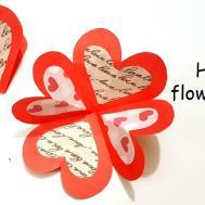 Diy Heart Flower Card Accordion Tutorial Cards