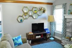 Diy Honeycomb Shelves Loving Here