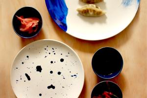 Diy Indigo Painted Plates Makers Society