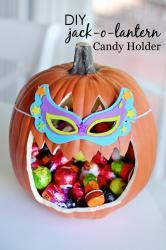 Diy Jack Lantern Candy Holder Project Nursery