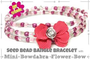 Diy Jewelry Seed Bead Bangle Bracelet Mini Bowdabra