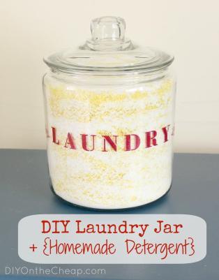 Diy Laundry Jar Homemade Detergent Erin Spain