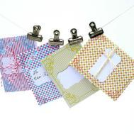 Diy Little Envelopes Packets Label Tag Red Blue