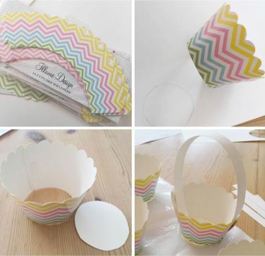 Diy Make Your Own Mini Easter Baskets Using Cupcake