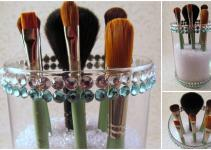 Diy Makeup Brush Holder Liner Glitter Gloss