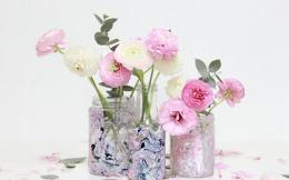 Diy Marbled Colored Vases Recycled Glass Bottles