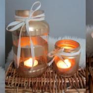 Diy Mason Jar Candle Holders Rach Speed