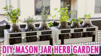Diy Mason Jar Herb Garden Handmade