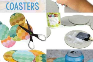 Diy Ombre Rainbow Coasters Little Craft Your Day