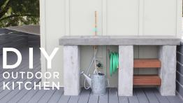 Diy Outdoor Kitchen Concrete Countertops Sink