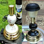 Diy Outdoor Solar Lighting Recycled Lamps Home