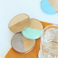 Diy Painted Birch Slice Coasters Dans Lakehouse