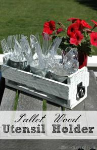 Diy Pallet Box Utensil Holder Monthly Challenge