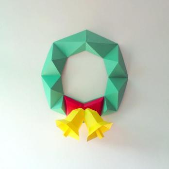 Diy Paper Christmas Garlandchristmas Wreathpaper Wreath