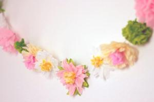 Diy Paper Flower Garland Cute Happy Home Decor Ideas