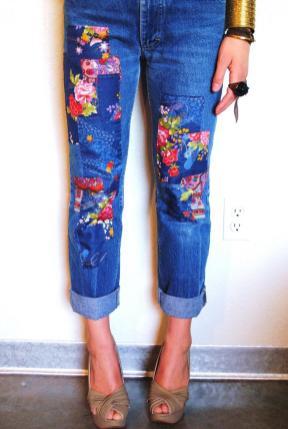 Diy Patchwork Jeans Pair Spare