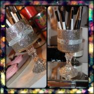 Diy Pedestal Makeup Brush Holder