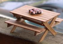 Diy Picnic Table Bench Made Out Popsicle Sticks
