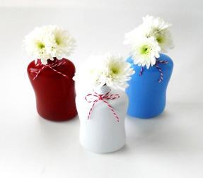 Diy Recycled Bottle Flower Vases 4th July Inspiration