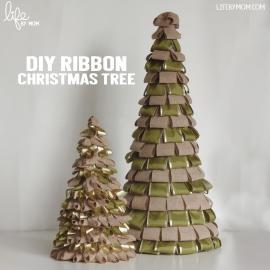 Diy Ribbon Christmas Tree Centrepiece Life Mom