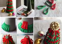 Diy Ribbon Christmas Tree Craft Projects