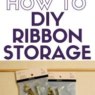 Diy Ribbon Storage Crafty Blog Stalker