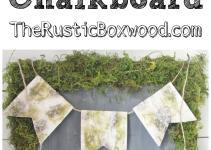 Diy Rustic Moss Chalkboard