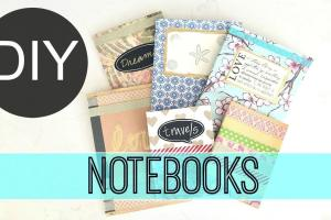 Diy School Supplies Anthropologie Inspired Notebooks