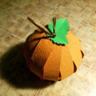 Diy Simple Paper Pumpkin Colour Happiness