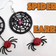 Diy Spider Web Earrings Halloween Crafts Polymer Clay