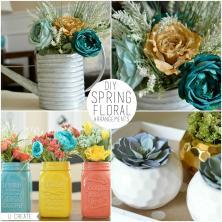 Diy Spring Floral Arrangements Create