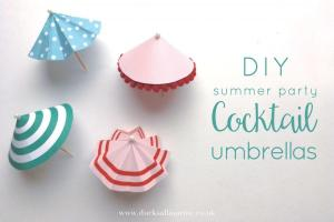 Diy Summer Party Cocktail Umbrellas Printable