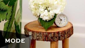 Diy Tree Stump Table Glam Yourself