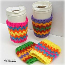 Diy Tutorial Mug Cozy Colorful Coffee Cozies