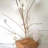 Diy Twig Christmas Tree Minimalist Rustic Budget