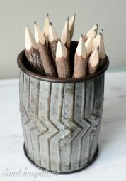 Diy Twist Mini Ginnie Pencil Cup Dandelion Patina