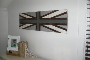 Diy Union Jack Sign Little Vintage Cottage