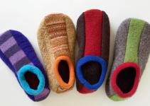 Diy Upcycled Sweater Slippers Make Simple