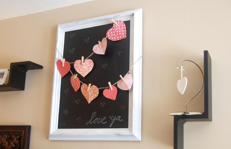 Diy Valentine Chalkboard Decor