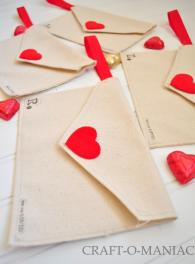 Diy Valentine Fabric Envelopes Them