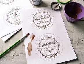 Diy Vintage French Coasters Project Printable
